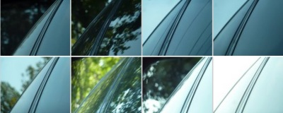 Variations on a car's side-view mirror in motion