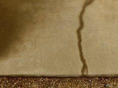 memory of rain (and lightning) written on concrete