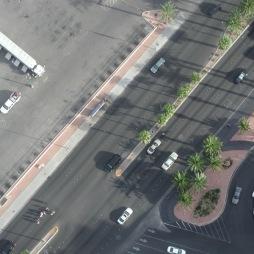 Sidewalks without pedestrians.